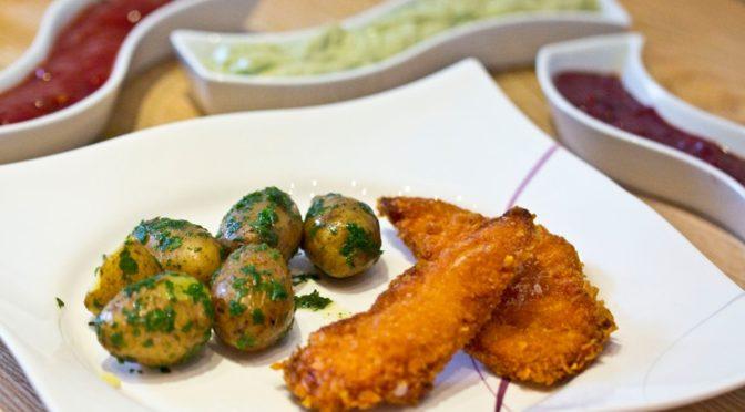 Hühnerschnitzel mit Cornflakespanier