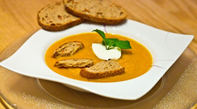 Karotten/Mango Suppe